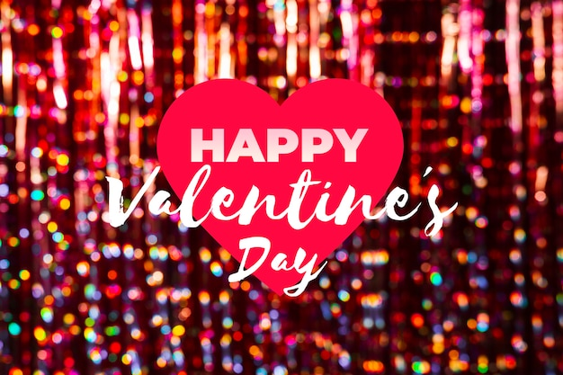Herz mit nachricht zum valentinstag