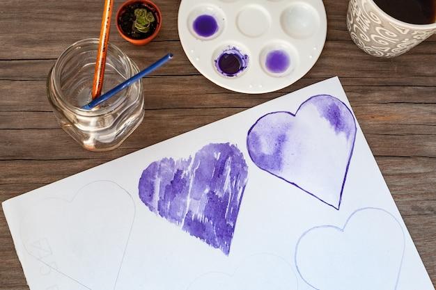 Herz und aquarelle