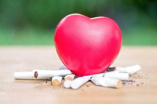 Herzerkrankungen werden durch rauchen verursacht.