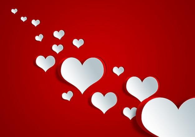 Herzform auf papier handwerk