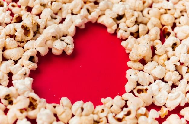 Herzformbildung durch popcorn
