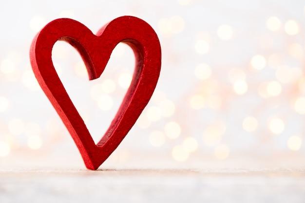Herzt den bokeh-hintergrund. valentinstag hintergrund.