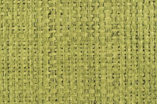 Hessischer sackleinen-leinwand gewebter textur-muster-hintergrund in hellgrüner oder blaugrüner farbe