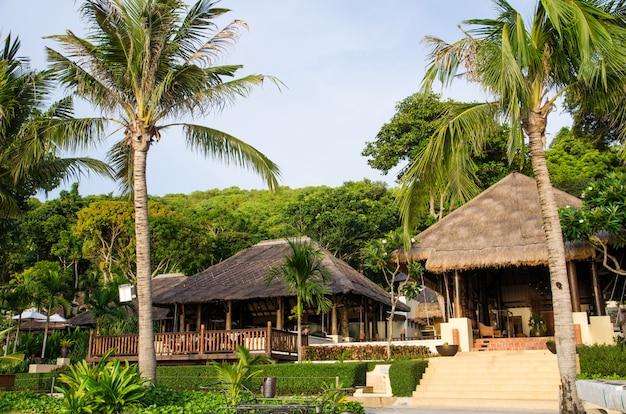 Heu-resort am strand
