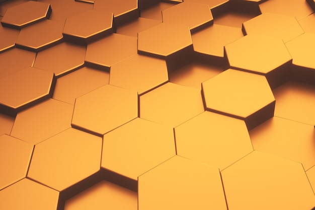 Hexagon gold metallic pattern abstrakter moderner hintergrund.