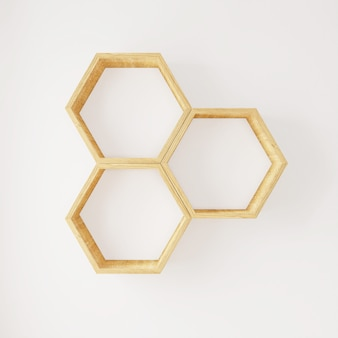 Hexagon regal bücher