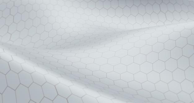 Hexagonale gitterstruktur verdrehte spirale abstraktes konzept großer datenbankhintergrund