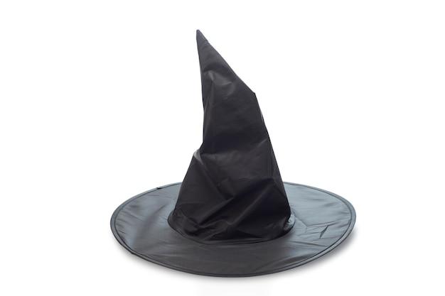Hexen- oder zaubererhut verziert auf weiß