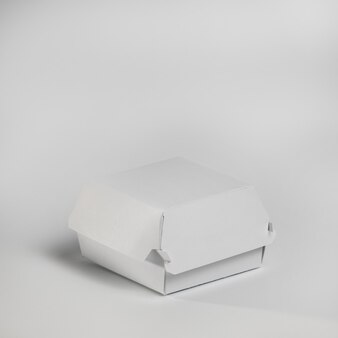 High angle burger paket