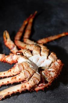 High angle crab nahaufnahme