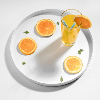 High angle detox drink mit clementine