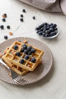 High angle frühstück mahlzeit arrangement