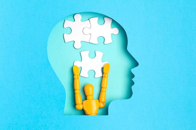 Hilfe bei psychischen erkrankungen konzept von psychischen gesundheitsproblemen