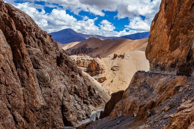 Himalaya-landschaft im himalaya-gebirge