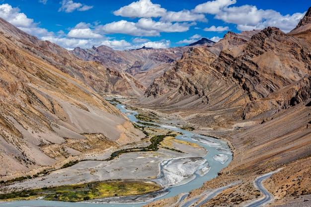Himalaya-landschaft, ladakh, indien