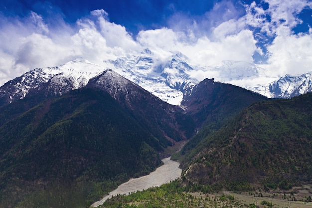 Himalaya-landschaft, nepal