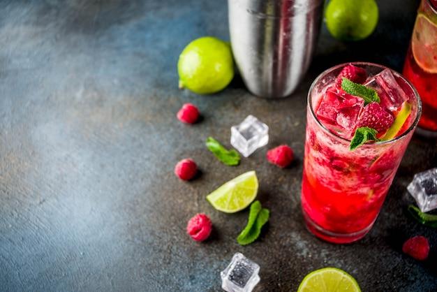 Himbeer-limetten-limonade
