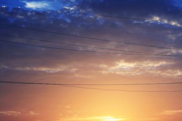 Himmel-ansicht-schönheit in der natur-dämmerungs-konzept