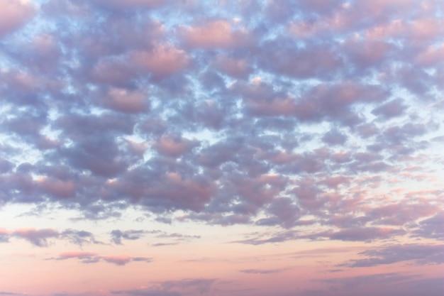 Himmel im horizontalen foto der rosa und blauen töne