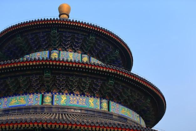 Himmelstempel in peking, die berühmte anziehungskraft, china mit kopienraum.