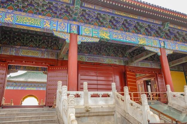 Himmelstempeltor oder tiantan im chinesischen namen in der stadt peking