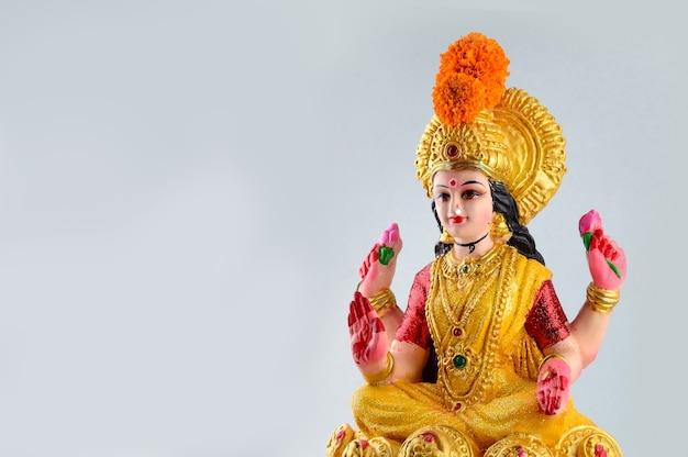 Hindu-göttin lakshmi während der diwali-feier