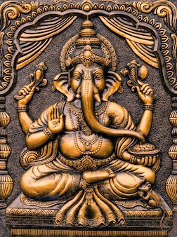 Hindu-gott ganesha lord of success.