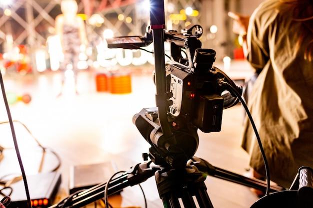 Hinter den kulissen der videoproduktion oder der videoaufnahme