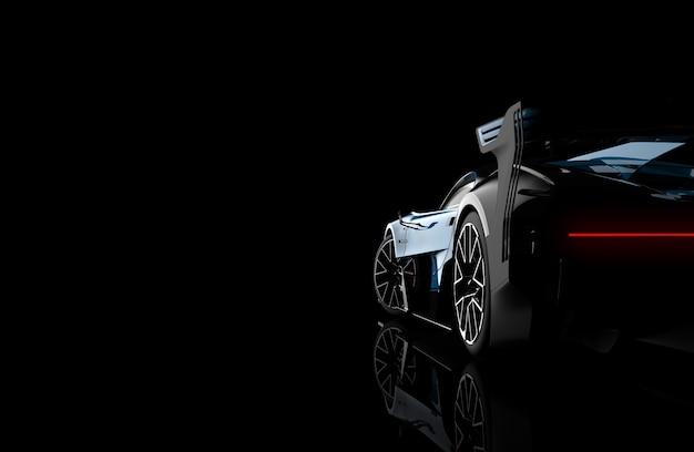Hintere ansicht eines generischen und markenlosen modernen autos
