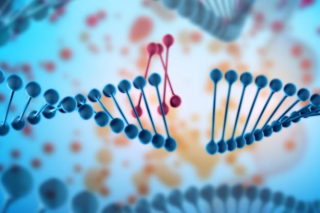 Hintergrund 3d des dna-moleküls.
