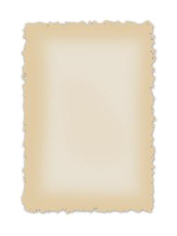 Hintergrund aus altpapier mit zerknittertem rand