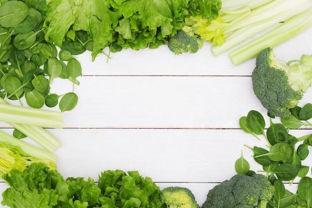 Hintergrund aus gemüse, gesundes lebensmittelkonzept