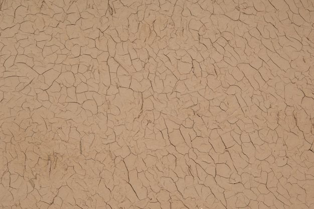 Hintergrund aus getrocknetem und rissigem ton