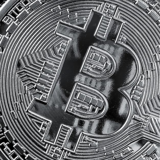 Hintergrund aus nahaufnahme bitcoin-münze. konzeptionelles bild für kryptowährung und blockchain.