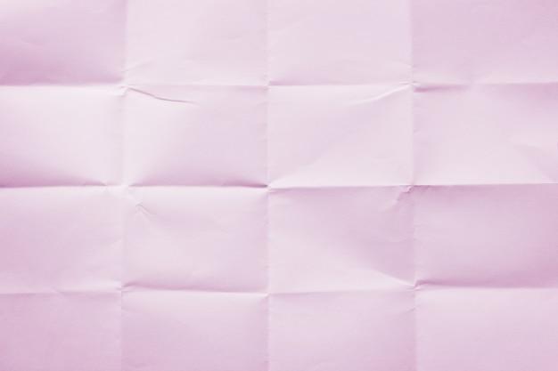 Hintergrund aus rosa zerknittertem blatt papier