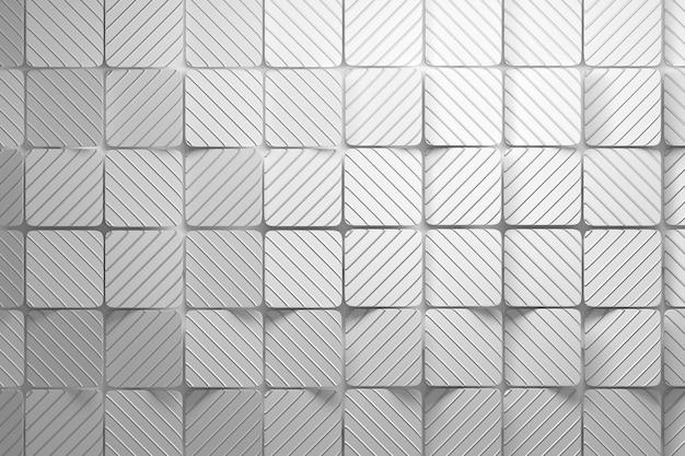 Hintergrund aus weißen quadraten mit wellenförmigen rillen