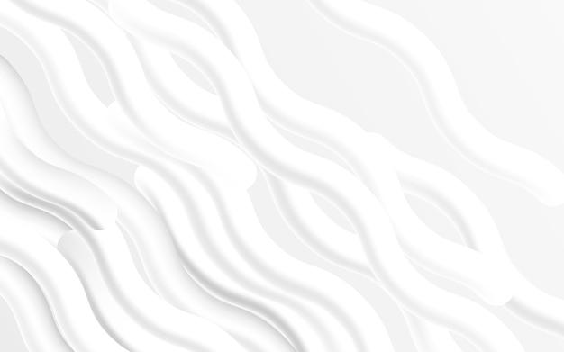 Hintergrund der abstrakten wellenflüssigkeitsflüssigkeit. moderne weiße form. vektorillustration