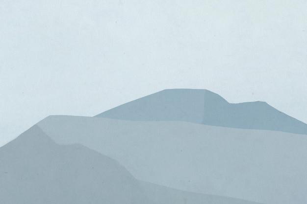 Hintergrund der blauen bergkette