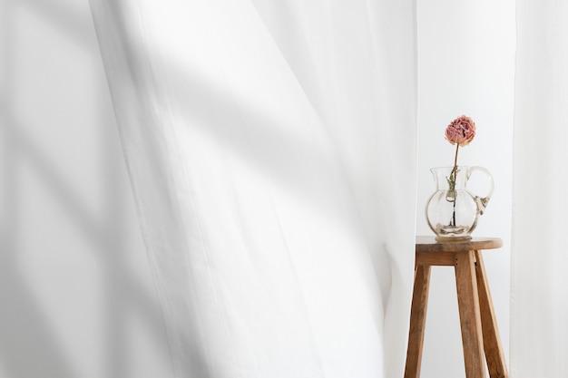 Hintergrund der blumenvase mit schatten