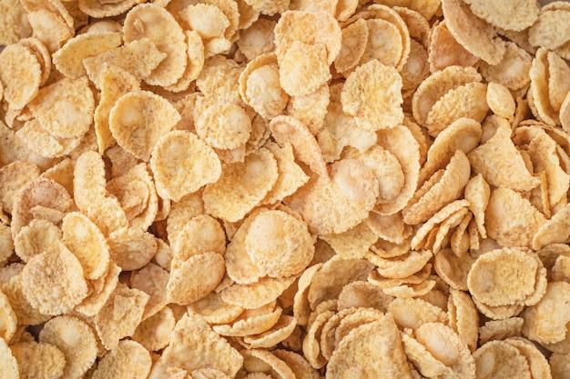 Hintergrund der cornflakes. gesundes frühstückskonzept.
