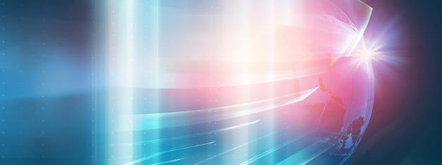Hintergrund der digitalen weltkommunikationstechnologie