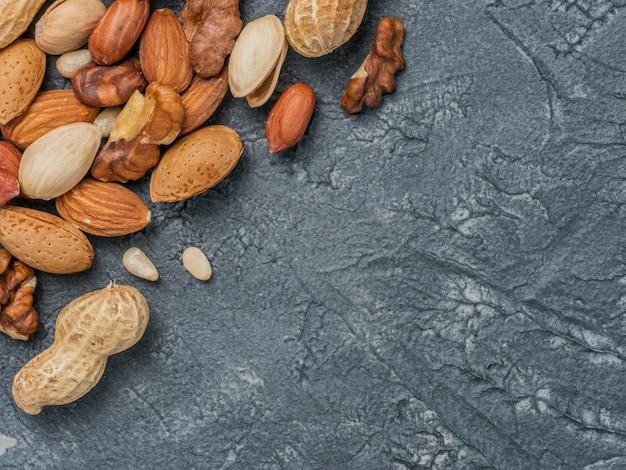 Hintergrund der gemischten nüsse
