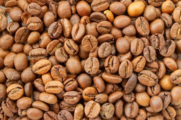 Hintergrund der gerösteten kaffeebohnen