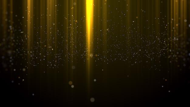 Hintergrund der goldpartikel-lichtauszeichnungen