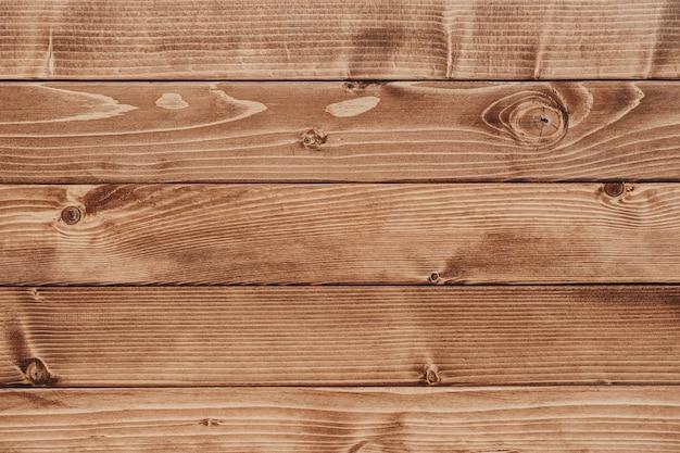 Hintergrund der hölzernen braunen terrasse von der draufsicht. hochwertiges foto