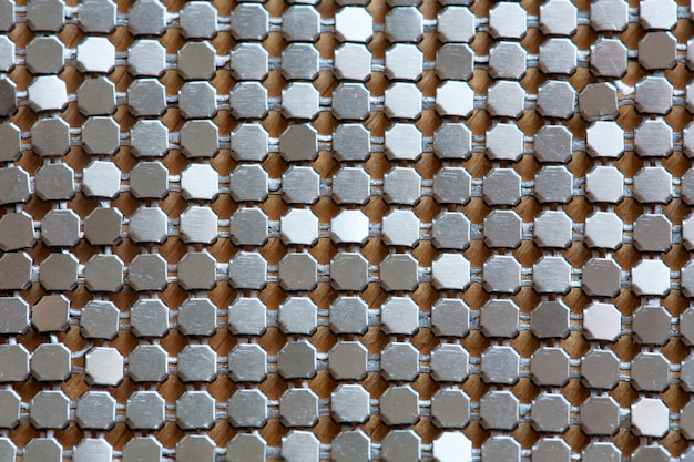 Hintergrund der metalldiamantplatte in der silbernen farbe