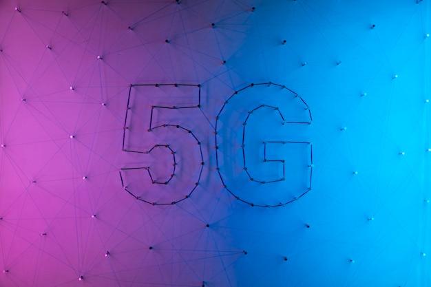 Hintergrund der modernen technologie 5g