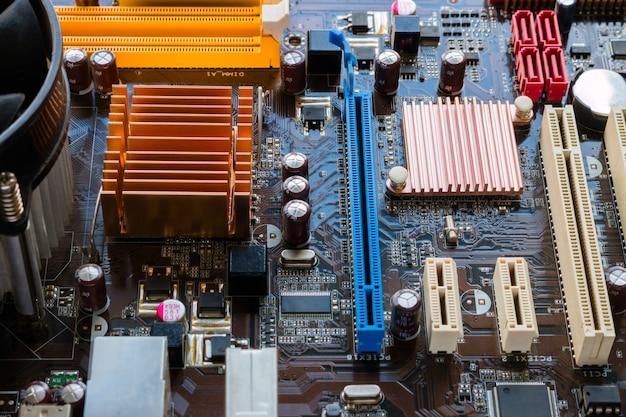 Hintergrund der motherboard-nahaufnahme