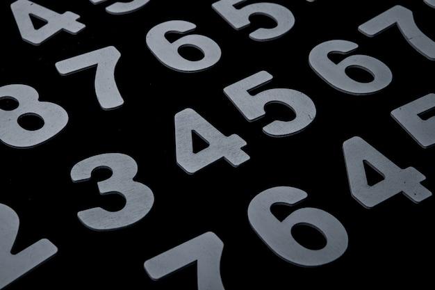 Hintergrund der zahlen von null bis neun