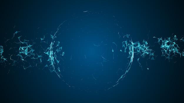 Hintergrund des abstrakten technologie-netzwerks.